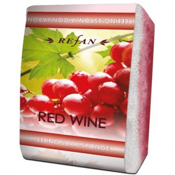 Refan peeling soap sponge Red wine600x600